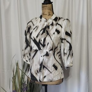 BCBG Maxazria Button Down Blouse